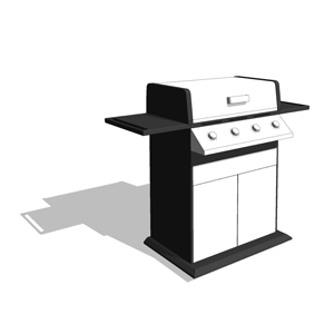 Free Revit Component Family download, Sunbeam BBQ